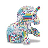 Melissa & Doug Decoupage Made Easy Unicorn Paper Mache Craft Kit with Stickers, Multicolor