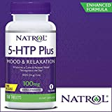 Natrol 5-HTP Plus Mood and Relaxation Enhancer, 100mg, 150 Time Release Tablets