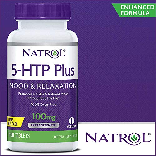 - Natrol 5-HTP Plus Mood and Relaxation Enhancer, 100mg, 150 Time Release Tablets