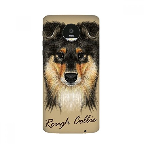 Long-haired Rough Collie Pet Animal Motorola Moto Z /Z Force Droid Magnetic Mods Phonecase Style Mod Gift (Collie Haired Rough)