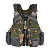Lixada Fly Fishing Vest,Fishing Safety Life Jacket Breathable Polyester + EPE Foam Design