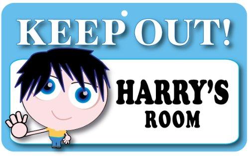 Keep Out Door Sign Harrys Room