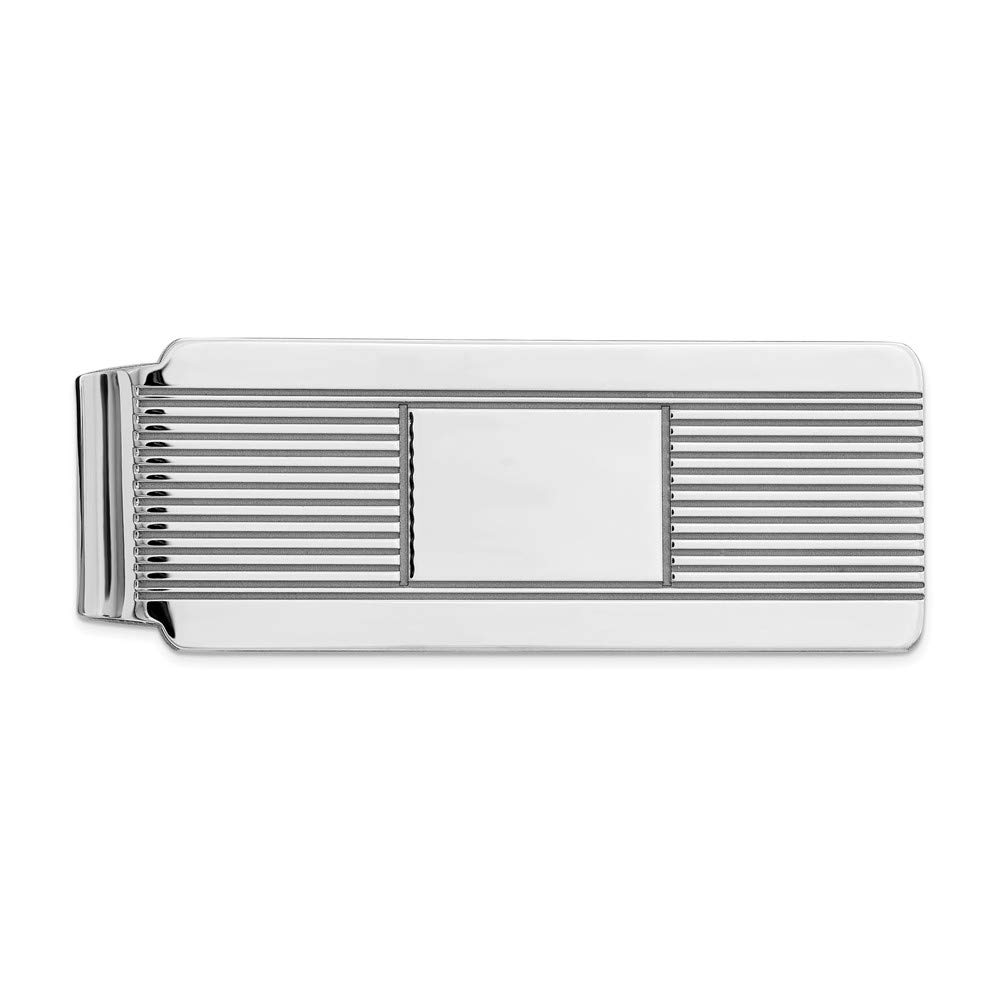 925 Sterling Silver Rhodium-plated Money Clip