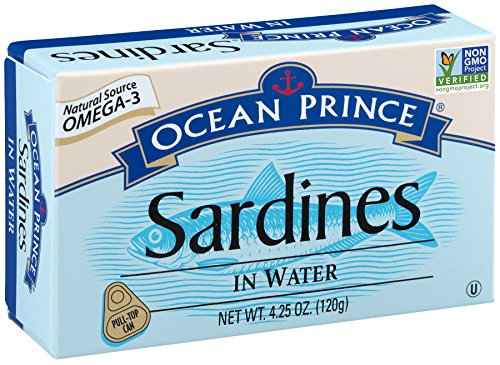 (Ocean Prince Sardines in Water, 4.25-Ounce Cans (Pack of 12) (packaging may vary))