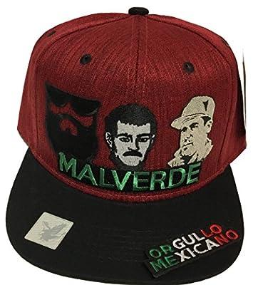Mexico El Señor de la Barba malverde el Chapo Orgullo m/visera Hat Maroon Black Snapback