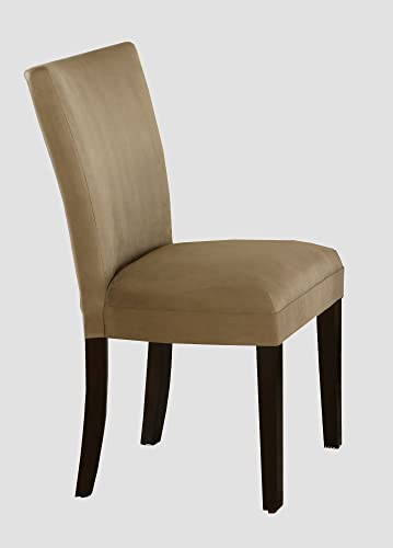 Set of 2 Parson Dining Chairs Camel Microfiber
