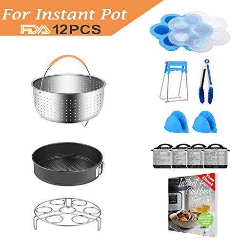 (Compatible with Instant Pot Accessories Set Pressure Cooker Accessoriy Compatible with Instant Pot 5,6,8 QT or Other Electric Pressure Cookers 12pcs)