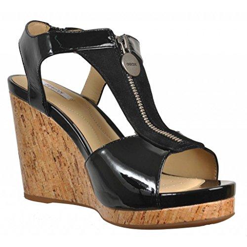Sandalias y chanclas para mujer, color Negro , marca GEOX, modelo D VICTORY E Negro