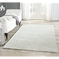 Safavieh Bella Collection BEL445A Handmade Silver and Ivory Premium Wool Area Rug (8 x 10)