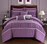 Plum King Size Comforter Sets Chic Home Cheryl 10 Piece Comforter Set, King, Plum