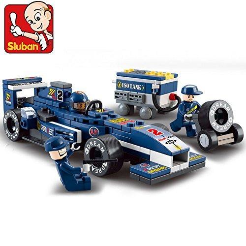 Sluban Building Block Formula Car City F1 Technic Indy Storm B0351 196pcs