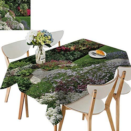 UHOO2018 Decorative Tablecloth Square/Rectangle Flower Rock Garden in SPR More t awar Winn Garden Assorted Size,50 x105inch