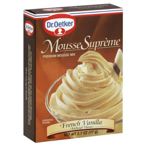 DrOetker French Vanilla Mousse Supreme Mix 27 Ounce Pack of 12