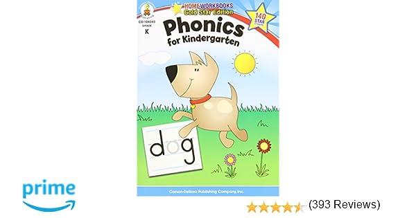 Amazon.com: Phonics for Kindergarten, Grade K (Home Workbook ...