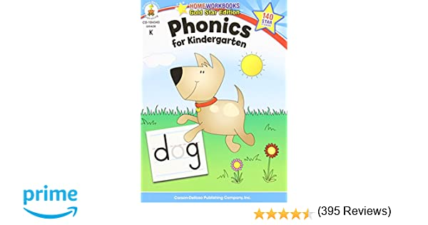 Amazon.com: Phonics for Kindergarten, Grade K (Home Workbook ...