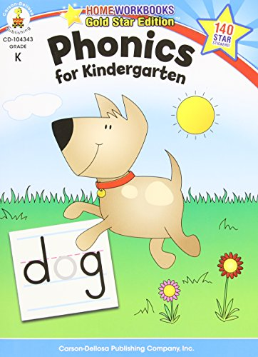 Phonics for Kindergarten, Grade K (Home Workbook) (Easy Christmas Programs For Kids)