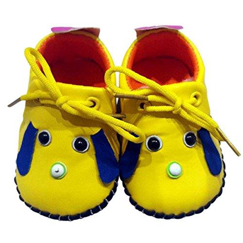 C2BB - C2BB - Zapatos de bebe primeros pasos de cuero niñas | Mr shoes amarillo Amarillo