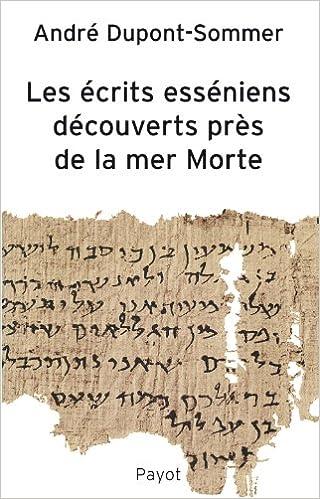 Livres gratuits en ligne Écrits esséniens découverts près de la Mer morte pdf, epub