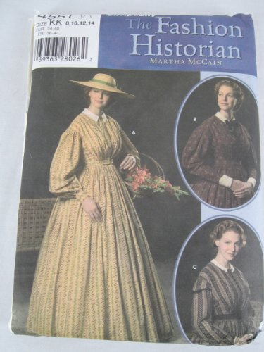 Simplicity 4551 Costume Civil War Historical Gown Dress Pattern 8-14 ()