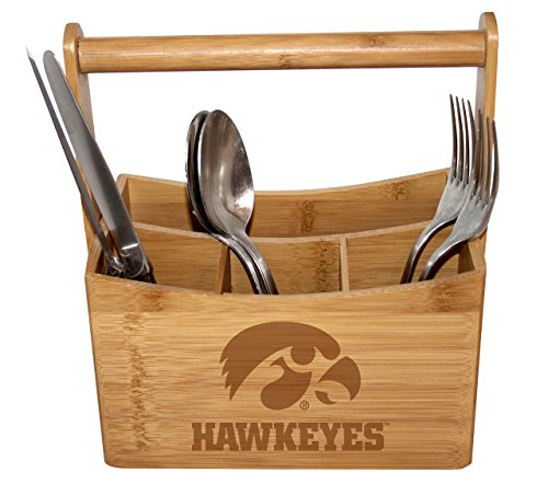 University of Iowa Bamboo Caddy by The College Artisan (Image #1)