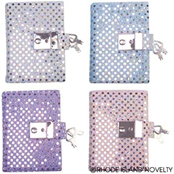 Teen Girl's Locking Secret Diary Journal with Sequins