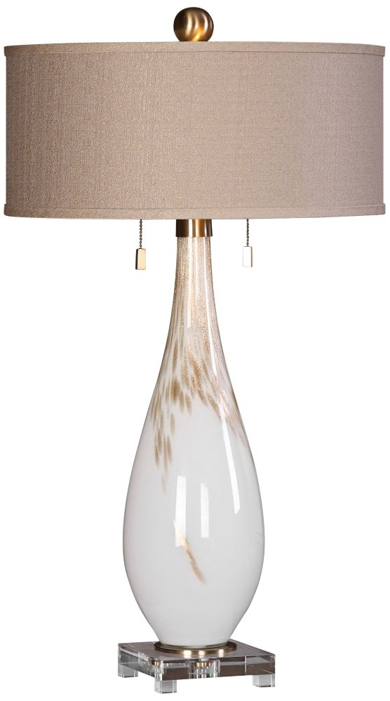 Glass Table Lamp in White Amazoncom