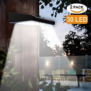 51btoEuh58L. SS300  - 2 Pack 30 LED Solar Lights Outdoor, Avaspot【Upgraded Version】Solar Powered Security Light, Wireless Waterproof Motion Sensor Solar Light, Outdoor Wall Light for Patio, Deck, Garden, Garage