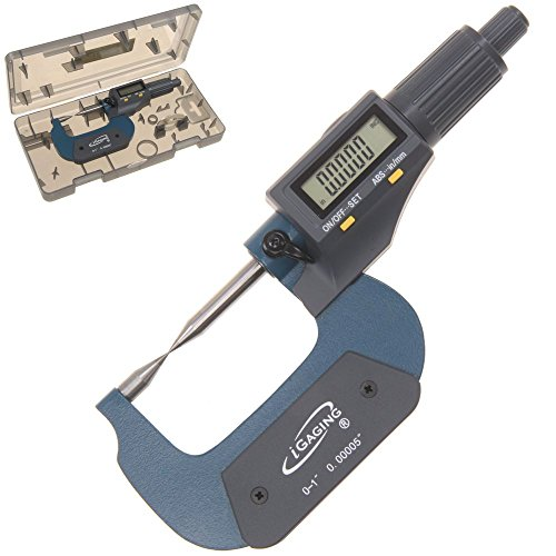 - iGaging 35-040-201 Point Micrometer Outside Digital Electronic with Large Display Inch/Metric, 0-1