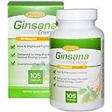 BodyGold Ginsana Energy VegCaps, 105 Count