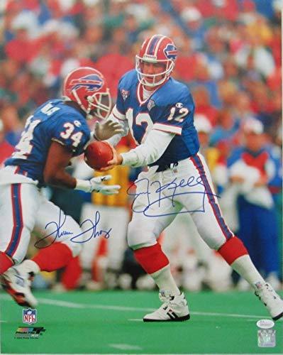 b630d0b3220 Jim Kelly Thurman Thomas Bills Signed Autographed 16x20 Photo JSA 137112