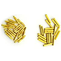 BW 20 Pairs 2mm Gold Plated Male & Female Bullet Banana Plug Connector for ESC Battery (20 Male + 20 Female) (2mm)