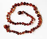 """*SAFETY KNOTTED*Amber Heals Baltic Amber Baby Teething Necklace-Baroque Cognac w/ """"Amber Heals"""" Jewelry Pouch –, Baby & Kids Zone"""