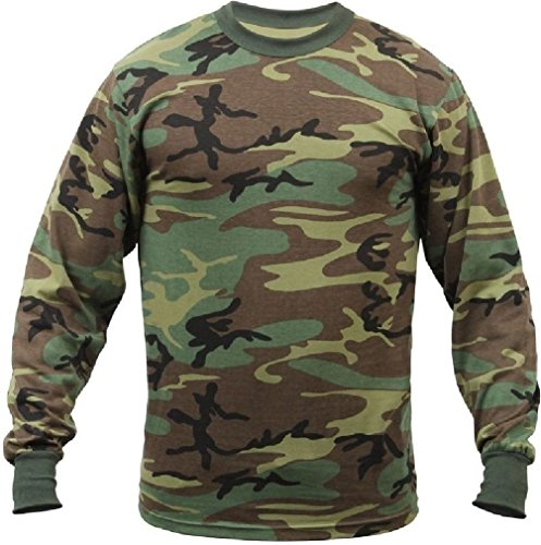 Outdoor Base New Military Camouflage Solids Poly Cotton Military Fashionable Long Sleeve ()