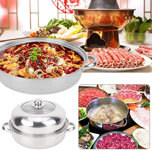 51btp7vRz0L. AC HelloCreate Steamer Pot, Stainless Steel Single Layer Stockpot Hotpot Food Steamer Pot Cookware Household Cooking    Specification:Condition: 100% Brand NewProduct material: stainless steelSteamer layer: single layer + steamed dicePot diameter * Pot height: Approx. 28 * 8.5cm / 11 * 3.3inCover diameter * Cover height: Approx. 27.5 * 8.5cm / 10.8 * 3.3inSteaming sheet diameter * Height: Approx. 27.8 * 0.2cm / 10.9 * 0.1in