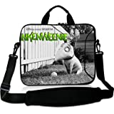 Cartoon 15 Inch Laptop Shoulder Bag with Sparky Frankenweenie(Both Sides)Patterns Waterproof Canvas Fabric for 15 15.6 Inch Laptop