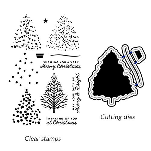 Ronri Christmas Tree DIY Cutting Dies Stencil DIY