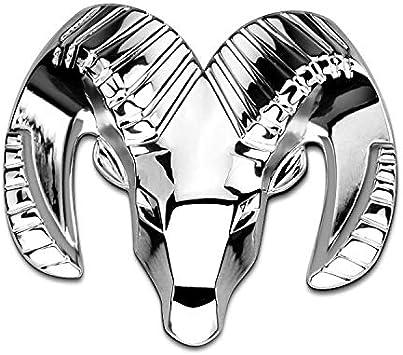 Csfssd Dodge Dodge Ram Logo Cool Cool Wei BO Ram umgewandelt Color : Silver G90601 um einen Aufkleber Metall Auto Kopf Pers/önlichkeit hinteres Etikett