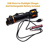 Personal Defense Tactical Flashlight, NINJA FSU-X1. Self-Defense Weapon & Tool or Emergency Torch. CREE LED has Brightness for Hunting, Fishing & Camping. Handheld Spotlight Battery/Charger Included!
