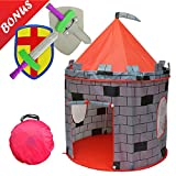 Kiddey Knight's Castle Kids Play Tent -Indoor & Outdoor Children's Playhouse -- Durable & Portable with Free Carrying Bag - -- Makes Perfect Gift for Boys & Girls