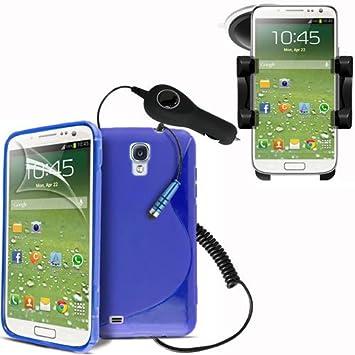 Samsung Galaxy S4 i9500 azul de Gel piel Caso/cubierta + ...