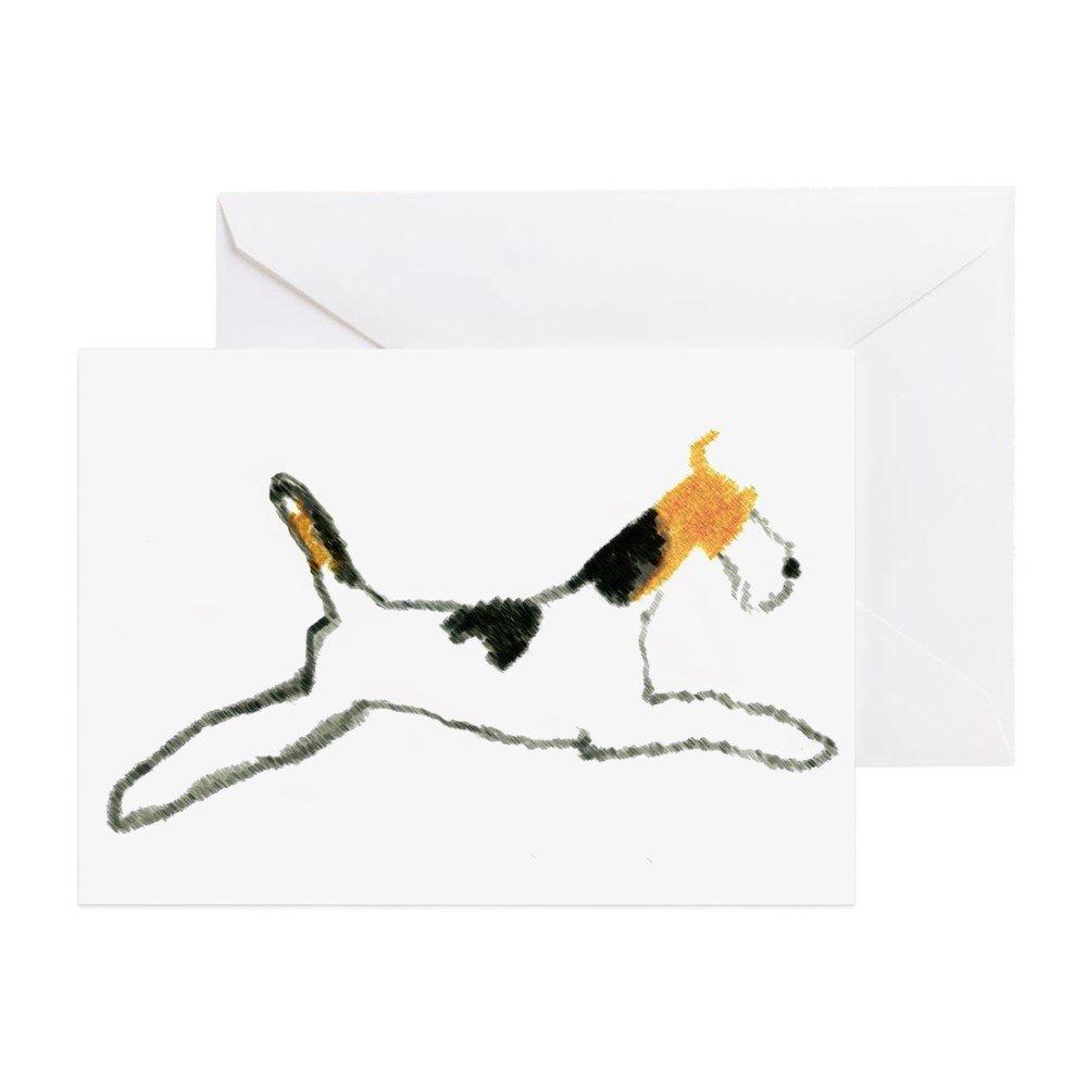 CafePress – Springender Draht Fox Terrier – Grußkarte, Note Karte ...