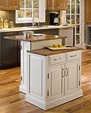 Home Styles  Woodbridge 2-Tier Kitchen Island, White Finish