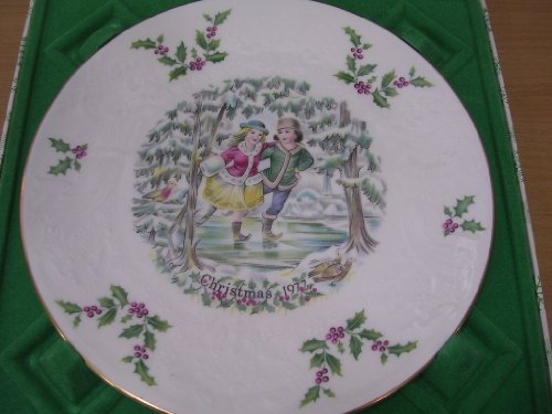 Royal Doulton Christmas Plate 1977 Skaters - 1st in Series
