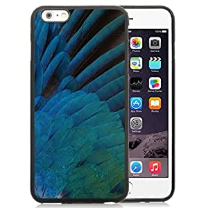 New Personalized Custom Designed For iPhone 6 Plus 5.5 Inch Phone Case For Blue Feathers Phone Case Cover