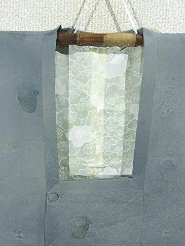 リサイクル 道行コート  地紋起こし 茶道具文様 正絹 裄62.5cm 身丈74cm