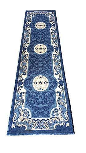 Americana Carpet King Traditional Runner Persian Area Rug Light Blue Design 101 (2 Feet X 7 Feet 3 Inch)