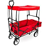 Imagination Generation SWAG-101 Folding Collapsible Utility Wagon with Canopy, Red