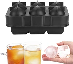 Naroote Ice Cubes Mold, Black Silicone Non?Stick Surface Food Grade Ice Trays, Home Use for Beverages Bar and Restaurant