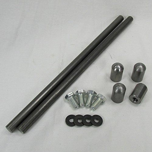 Universal Rear Motorcycle Fender Strut Kit - Steel with Bungs and Hardware with 1/2