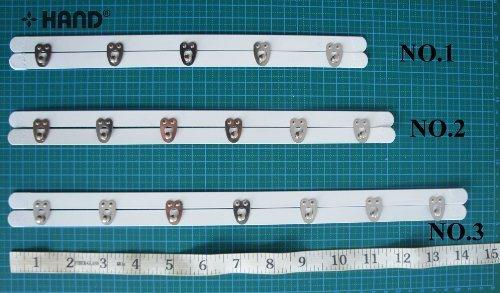 No.4 – 6 Chiusure con ganci per corsetto - Lunghezza 32.5 cm HAND